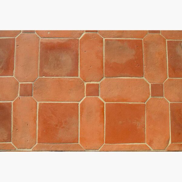 Pavimenti per interni in cotto - Combinato Rosso Rosato