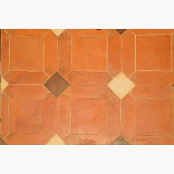 Pavimenti per interni in cotto - Losanga Quadrato Rosato