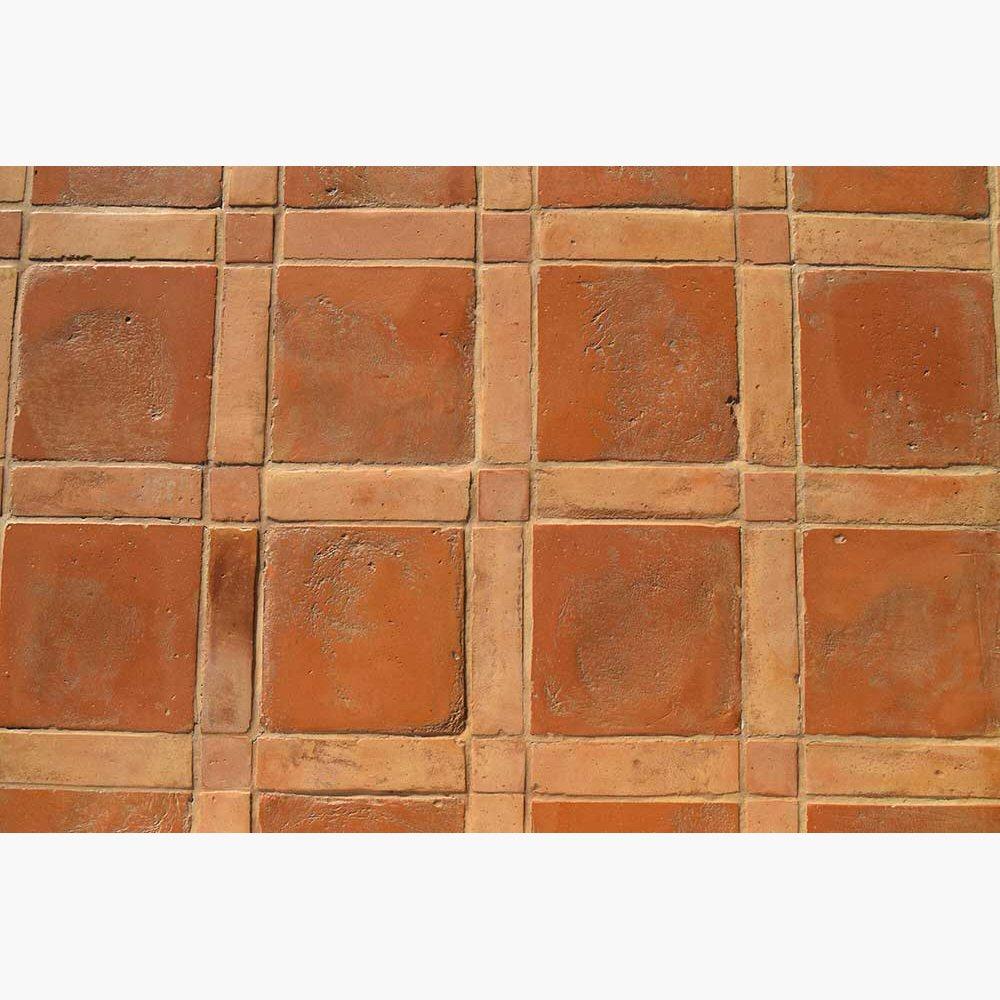Pavimenti per interni in cotto - Rosso e Rosato chiaro